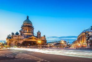 Санкт Петербург с полет от Бургас