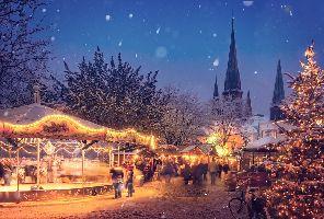 Предколедна Прага - посещение на Коледните базари - самолет от София