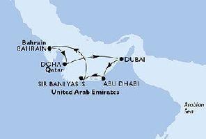 КРУИЗ: Перлите на Арабско море - 8 дни на борда на MSC Splendida: Вариант 2