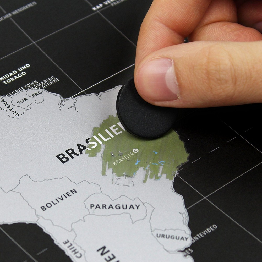 Пътувайте навсякъде по света с Вашата географска скреч карта